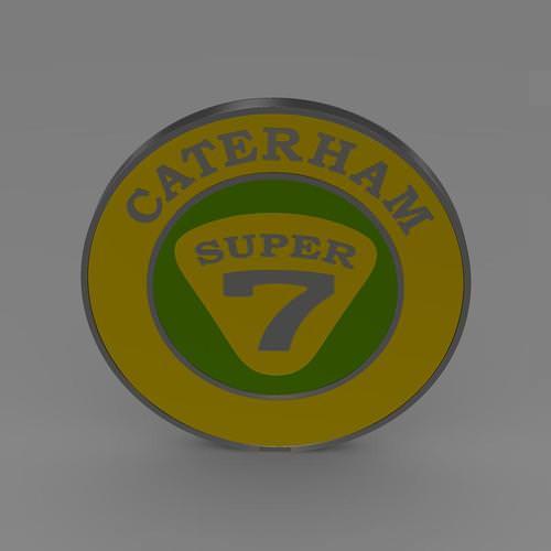 Caterham Logo 3D Model .max .obj .3ds .fbx .c4d .lwo .lw
