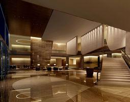 Lobby 3D model hotel motel
