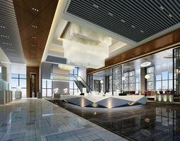 3D Lobby hotel-lobby motel