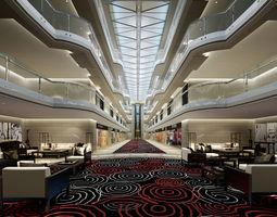 3D hotel motel Lobby
