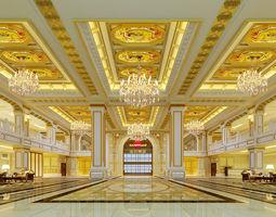 3D model hotel-lobby Lobby