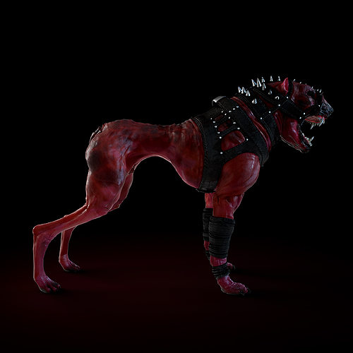hell dog 3d model max obj fbx ztl 1