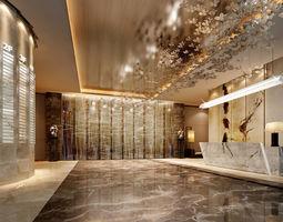 3d Lobby hotel space