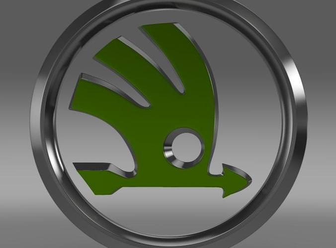 Skoda Logo 3D Model .max .obj .3ds .fbx .c4d .lwo .lw .lws - CGTrader.com