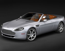 Aston Martin v8 Vantage Roadster 3D Model
