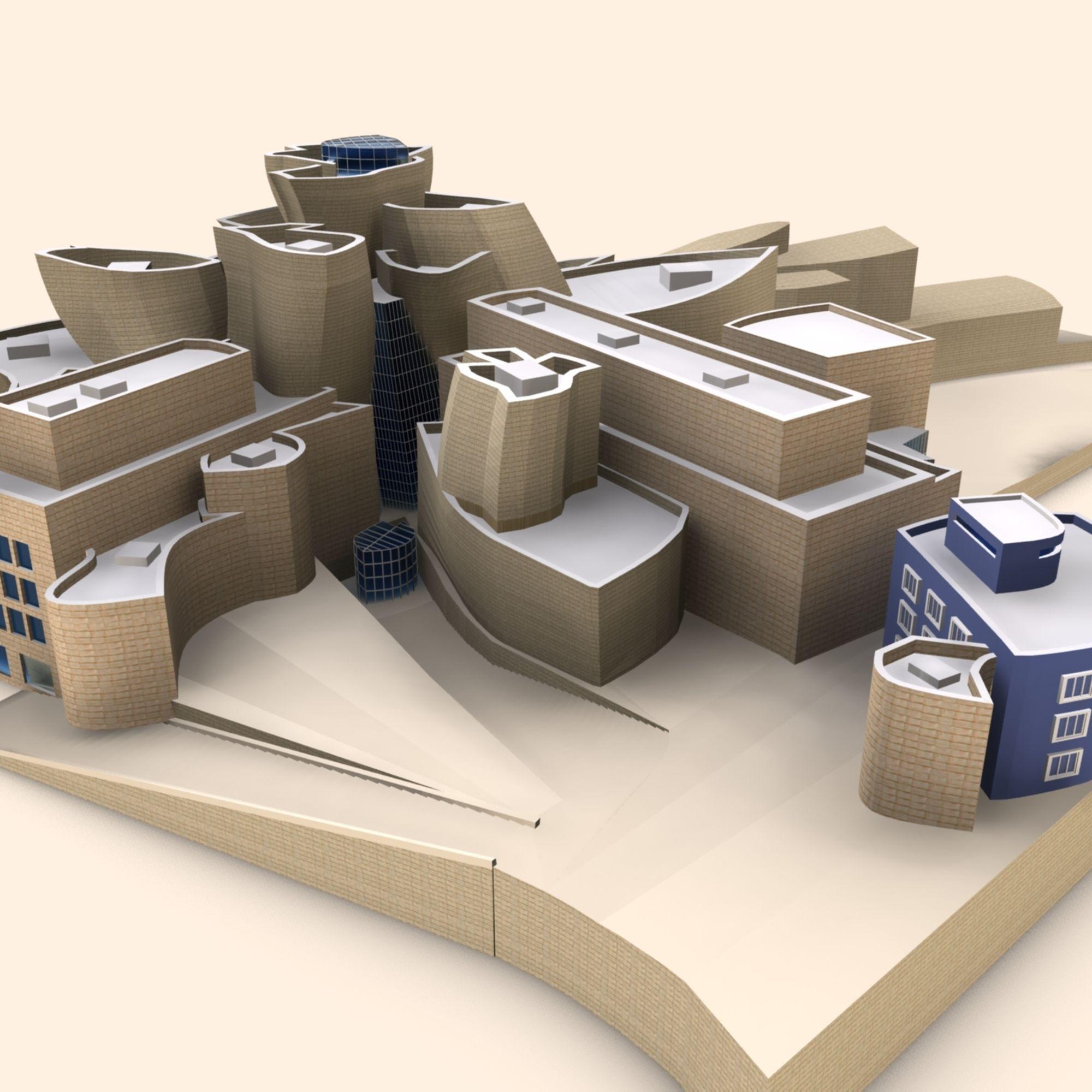 Guggenheim museum bilbao 3d model max obj 3ds fbx for 3d model viewer