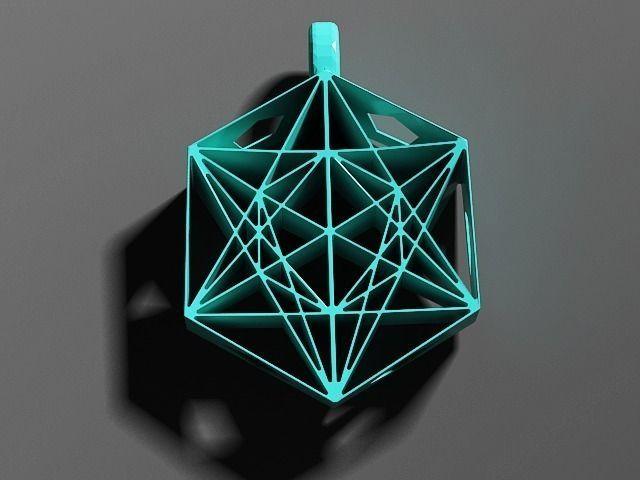 Metatrons cube pendant 3d model 3d printable stl for Metatron s cube jewelry