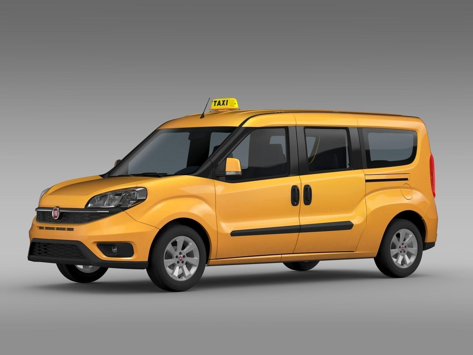 fiat doblo maxi taxi 152 2015 3d model max obj 3ds fbx c4d lwo lw lws. Black Bedroom Furniture Sets. Home Design Ideas