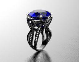 Octopus fashion ring 0120 3D Model