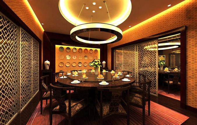 Restaurant luxury 3d cgtrader for Restaurant 3d max