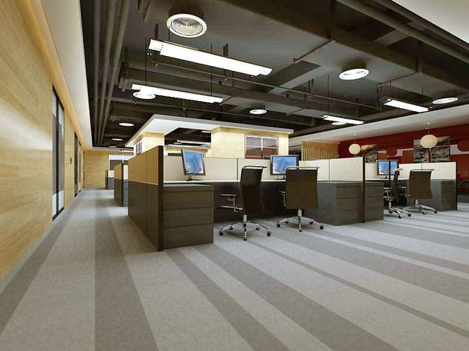 Unique 3d stylish interior design cgtrader for Office design 3d max