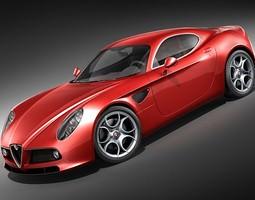 Alfa Romeo 8C Competizione HighPoly 3D Model