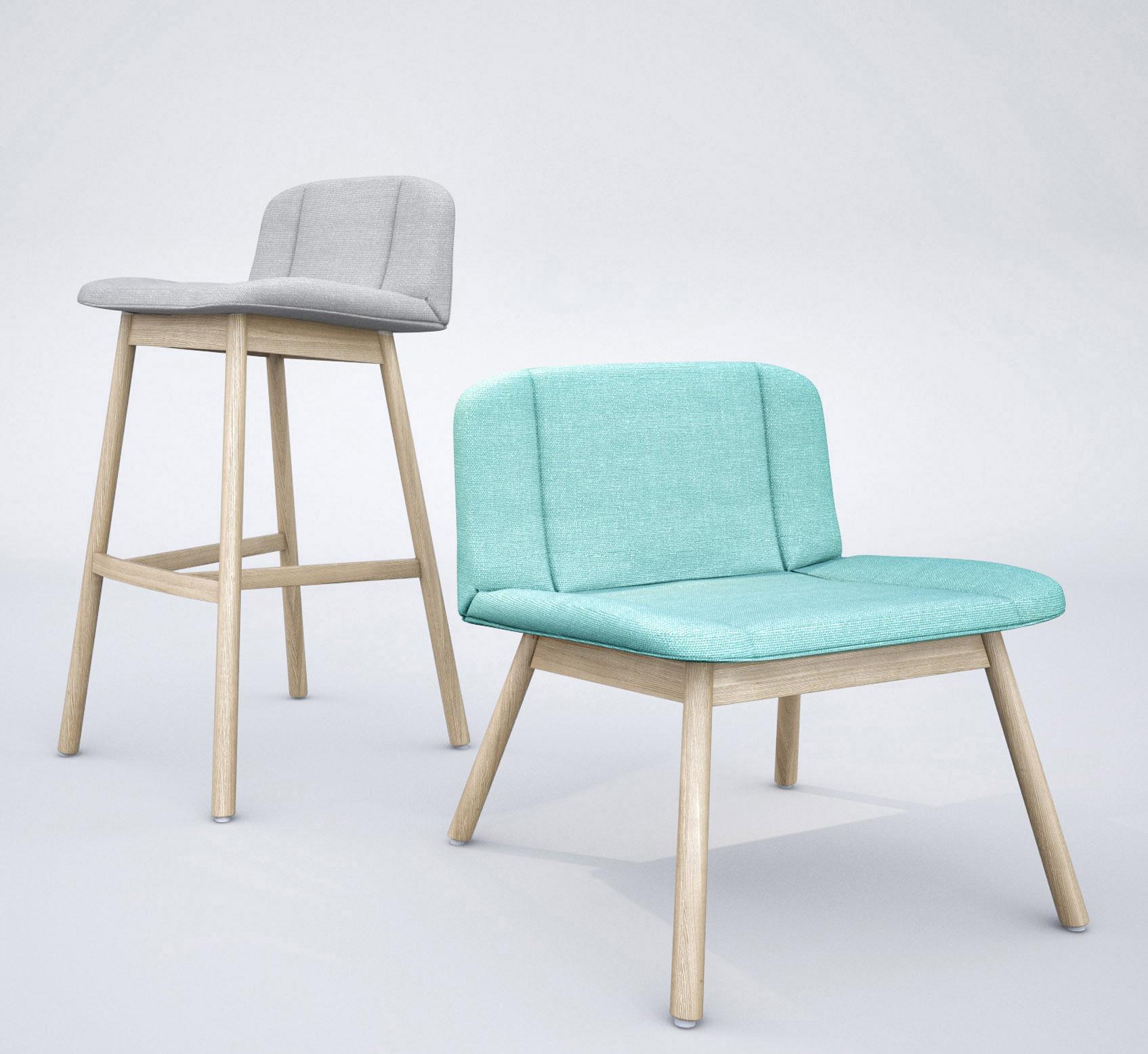 Billiani Hippy Lounge chair and Bar stool