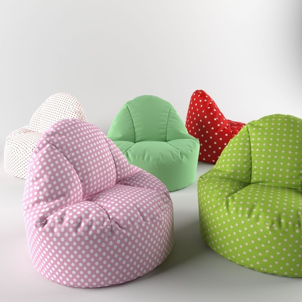 bean bag chair pouf 3d model max fbx mat 2