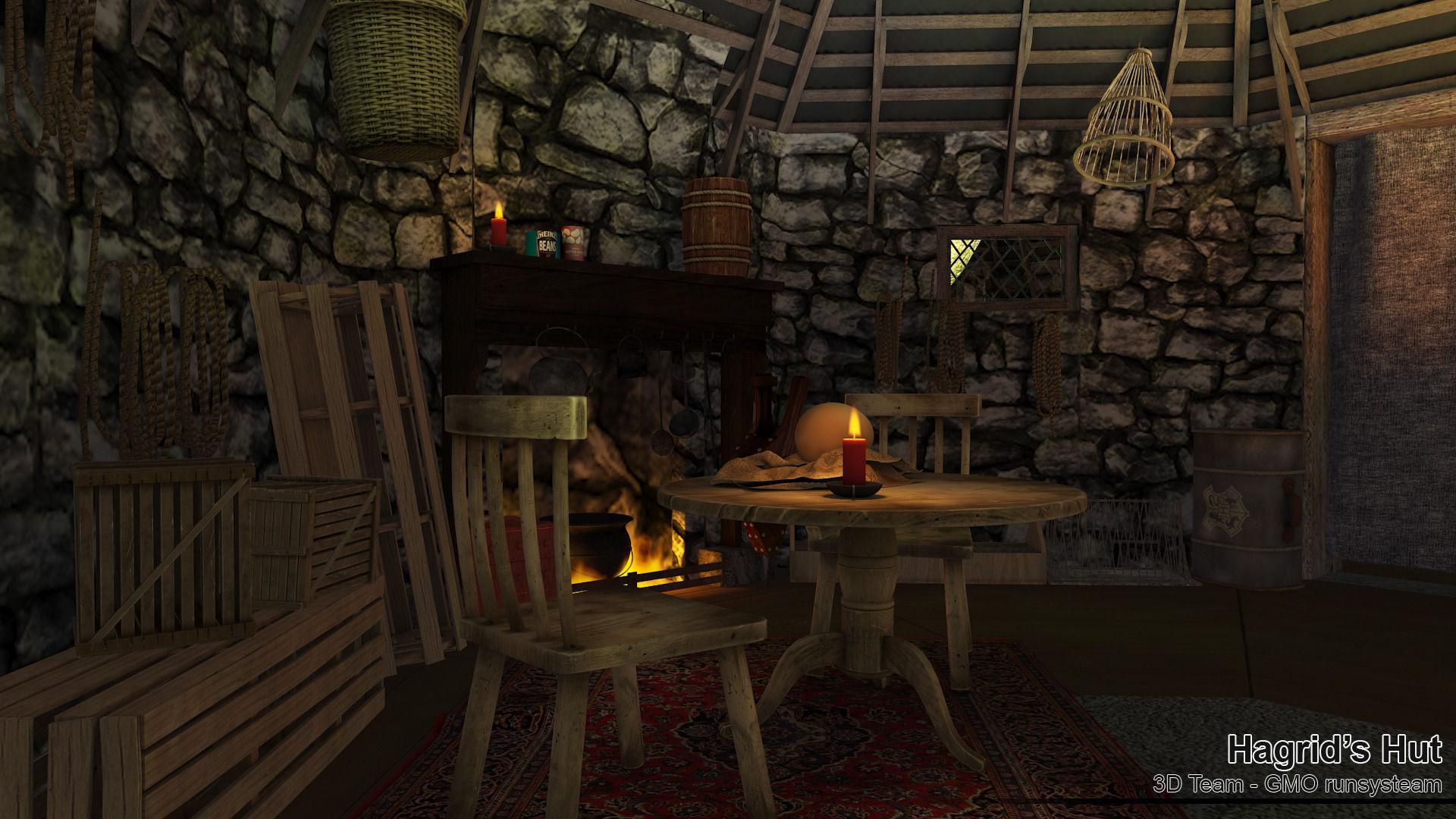Hagrid Hut Free 3d Model Max Obj Fbx