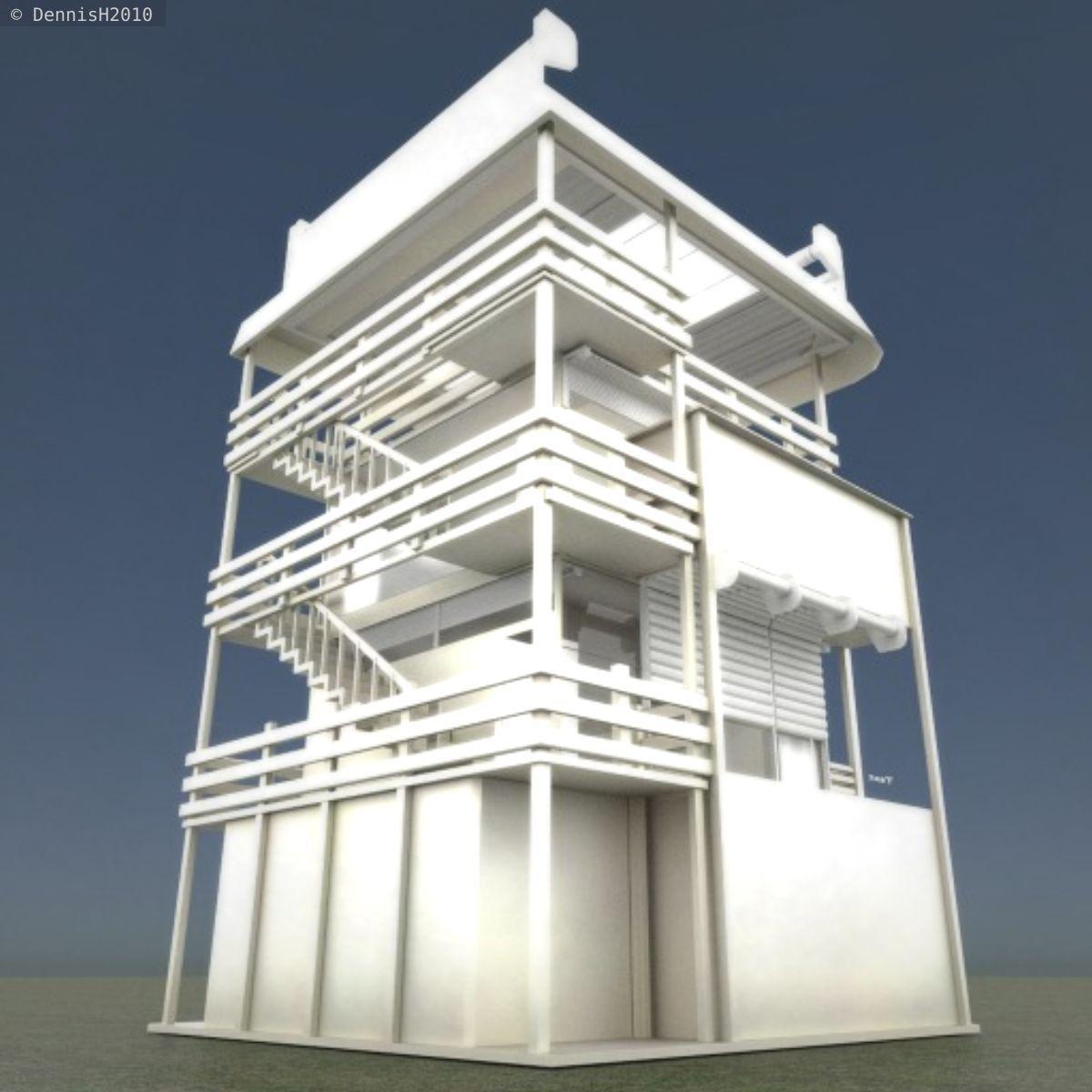 Tower house design blender game engine free vr ar House design games 3d