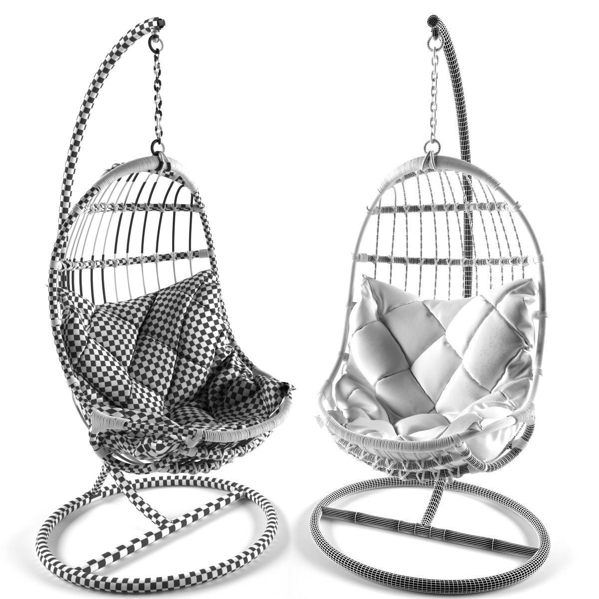 Attractive ... Hanging Chair 3d Model Max Obj 3