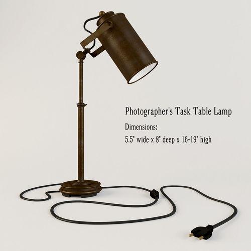Photographer Task Table Lamp3D model