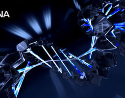DNA animation 3d model animated