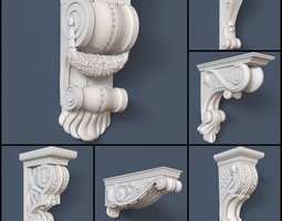 30 Decorative Corbels Collection 3D Model