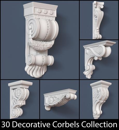 30 Decorative Corbels Collection3D model