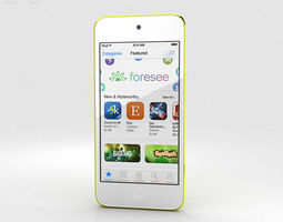 3d model apple ipod touch yellow