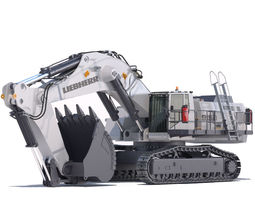 Mining Excavator Liebherr R9150 3D Model