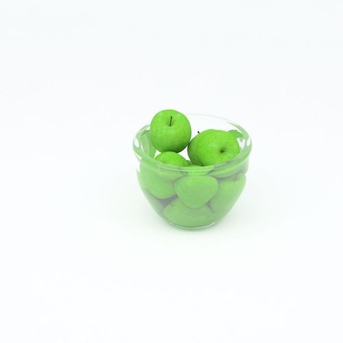 green apples in glass vase3D model