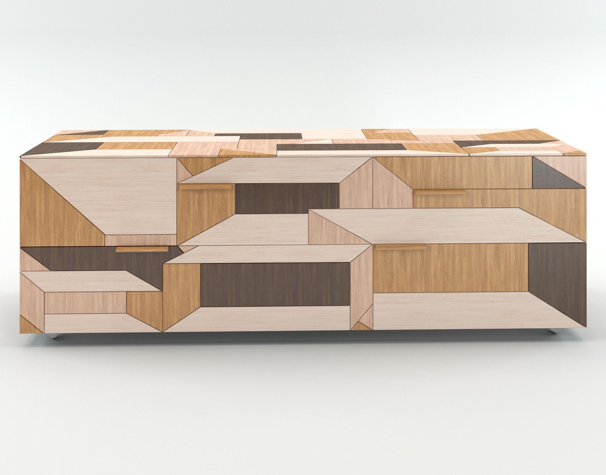 Faszinierend Sideboard Modern Sammlung Von Cupboard Inlay Porro 3d Model Max Obj