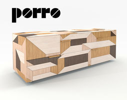 Modern Cupboard Sideboard Inlay Porro 3D Model