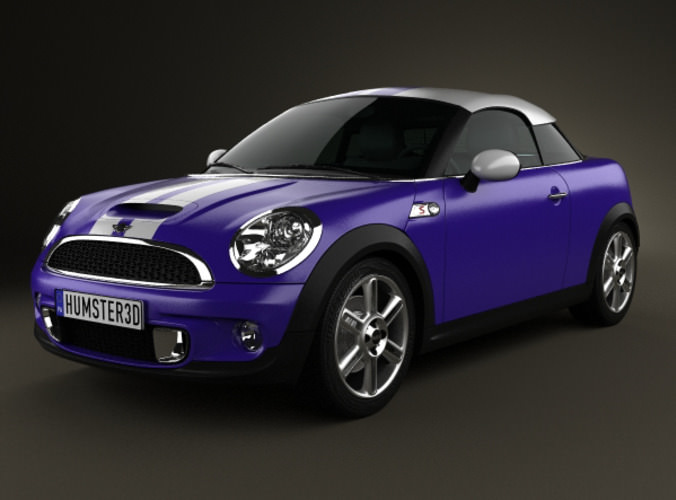 mini cooper s coupe 2013 3d model max obj 3ds fbx c4d lwo. Black Bedroom Furniture Sets. Home Design Ideas