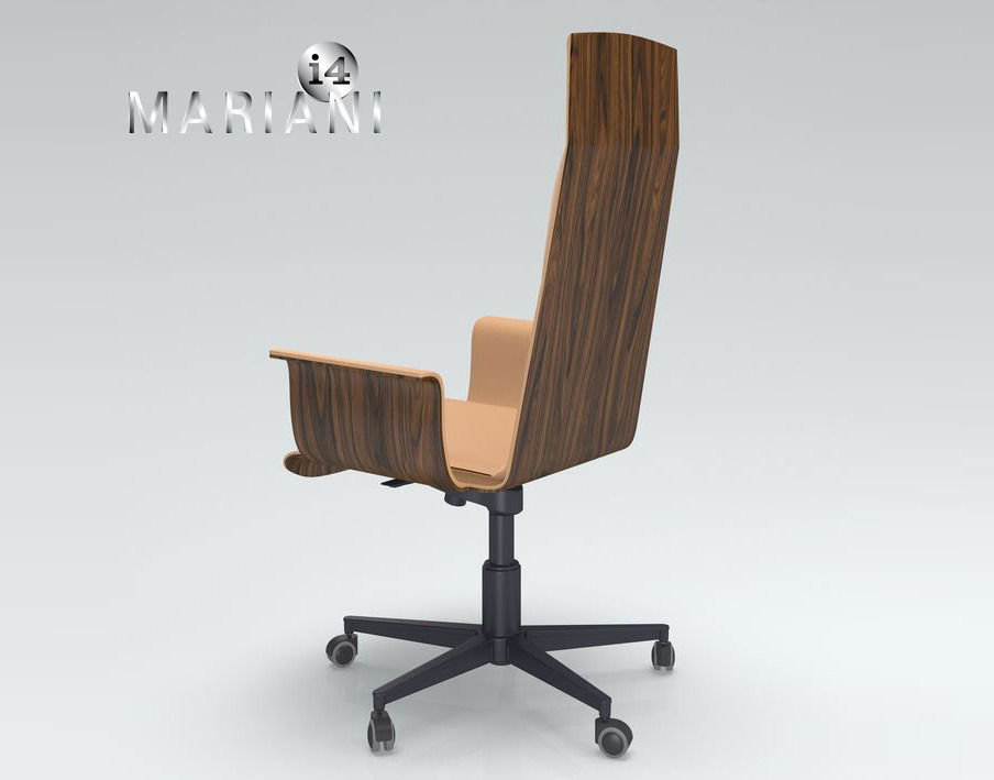 ... Office Armchair I4 Mariani Wing 3d Model Max Obj Fbx Mtl ...