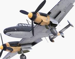 BF-110 German bomber 3D Model