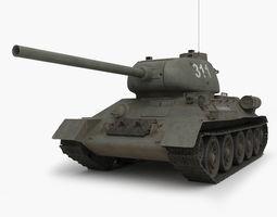 T 34 85 Soviet tank 3D Model