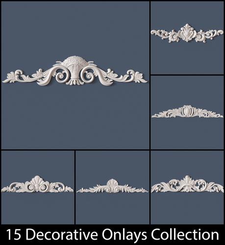 15 Decorative Onlays Collection3D model