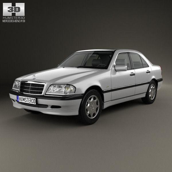 Mercedes benz c class sedan 1997 3d model max obj 3ds for Mercedes benz sedan models