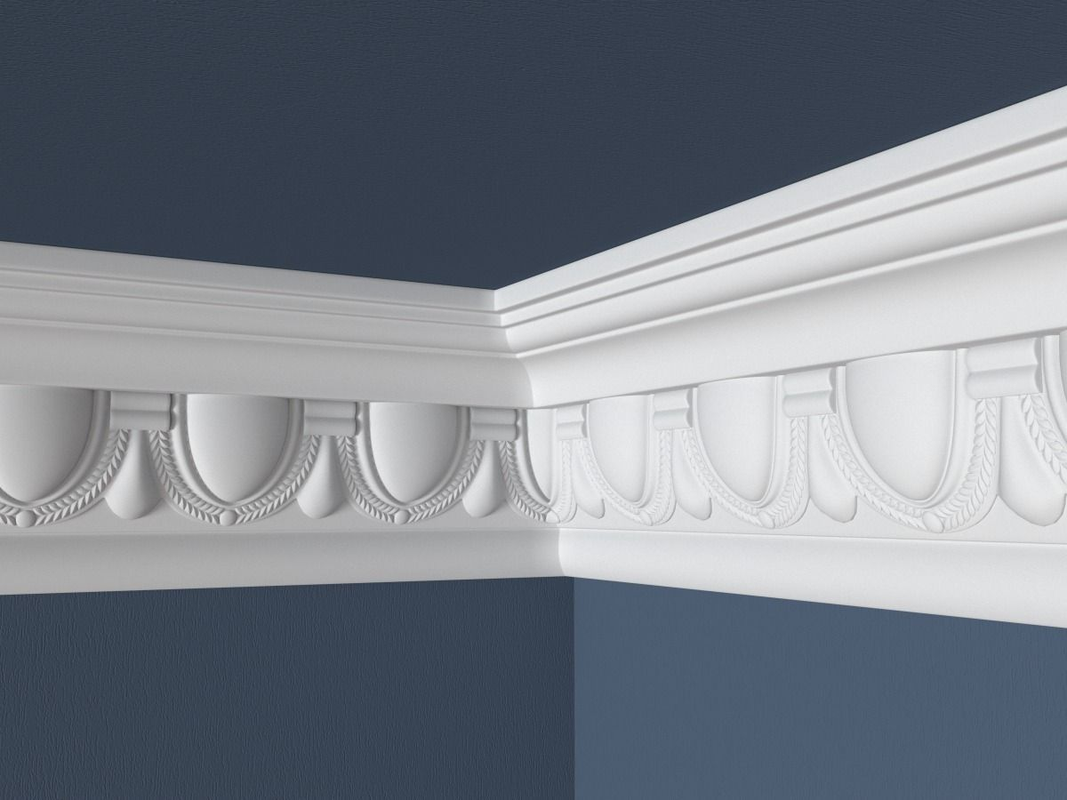 Decorative Crown Molding 019 3D Model .max .obj .fbx .ma