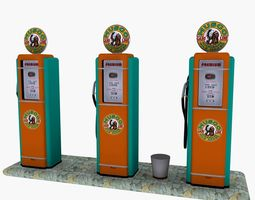 gas pump musgo 3d model realtime