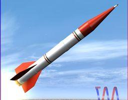 Shahin II Rocket 3D asset