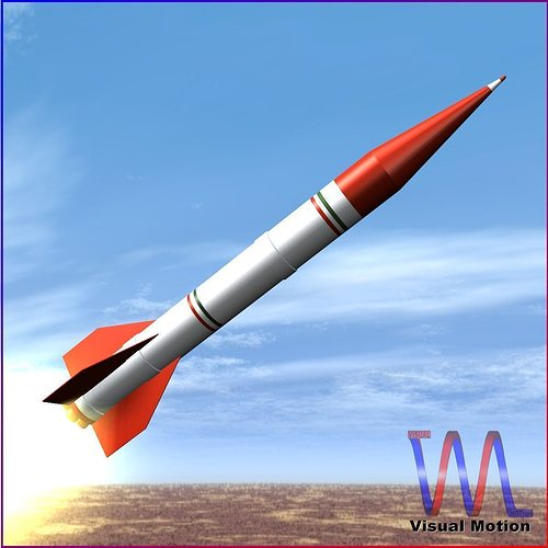 shahin ii rocket 3d model low-poly obj mtl 3ds fbx dxf blend dae 1