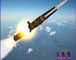 pershing 1a missile 3d