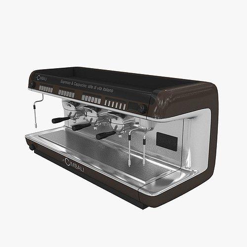 cimbali coffee machine 3d model max 3ds fbx 1