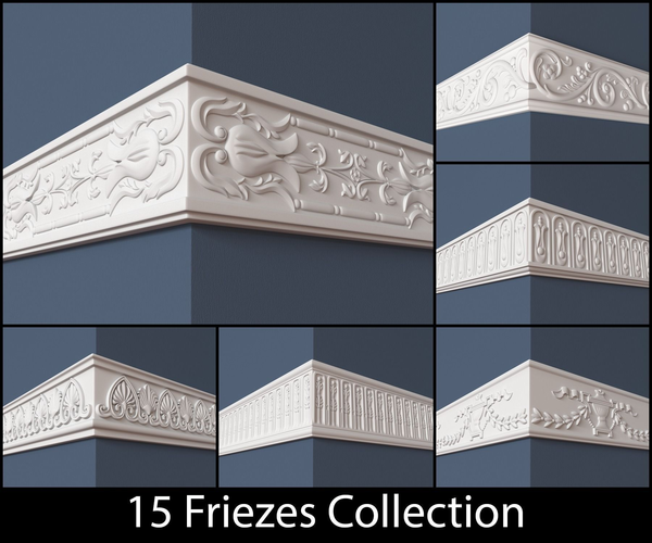 15 Friezes Collection3D model