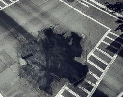 Hole ground damage 3D model
