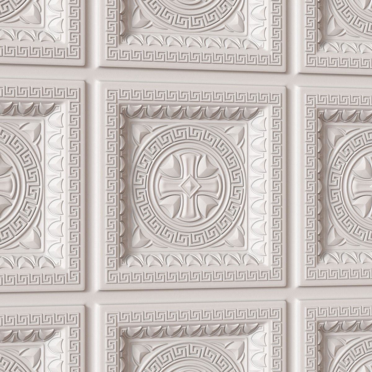 Decorative Ceiling Tile 010 3d Model Max Obj Fbx Ma