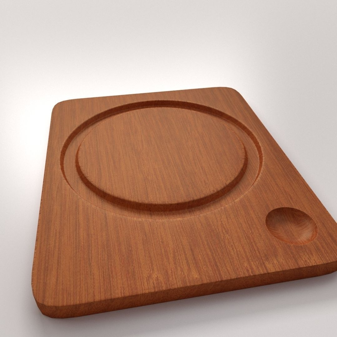 Trencher Plate 3D | CGTrader