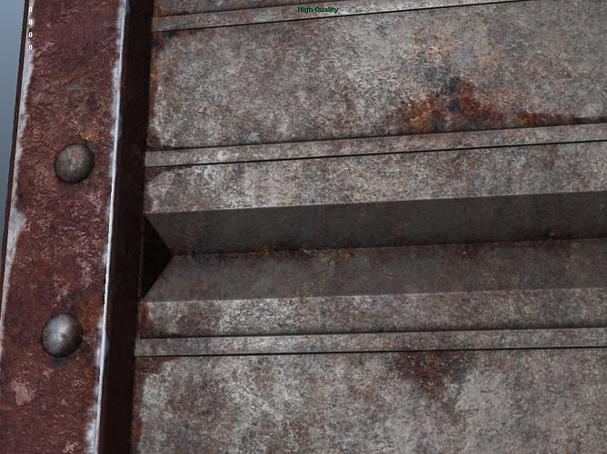Rusted Metal Plate Model Low Poly Obj Mtl Ma Mb 3