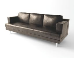 Simple leather sofa 3D model