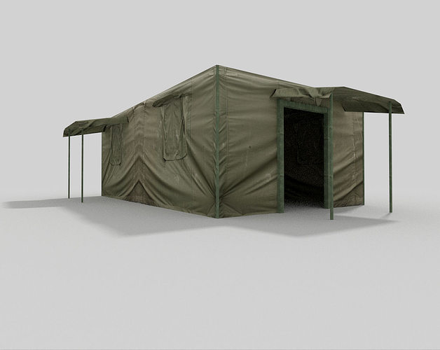 ... military tent 3d model low-poly obj 3ds fbx blend dae 2 ... & 3D asset military tent | CGTrader