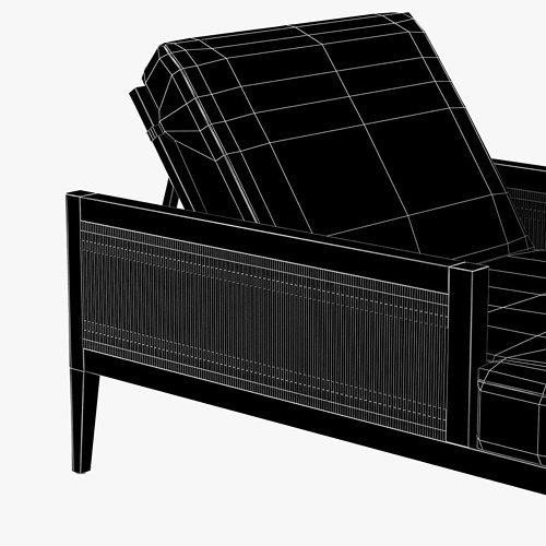 ... Brizo Chaise Lounge With Cushions By Porta Forma 3d Model Max Obj 3ds  Fbx Mtl 7 ...